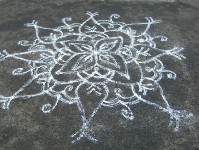 mandala on ground